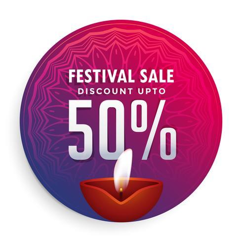 gelukkige diwali festival verkoop labelontwerp