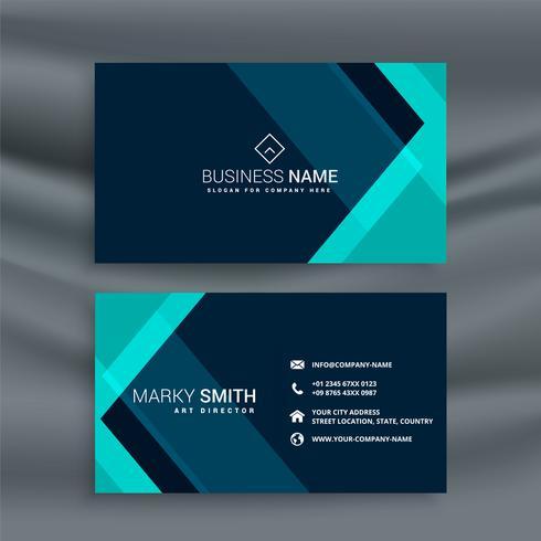 elegante dunkelblaue Visitenkarte Vorlage