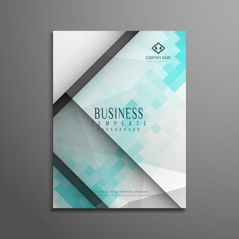 Modèle de brochure abstrait business polygonale élégant