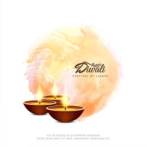 Fondo decorativo de Diwali feliz religioso abstracto vector