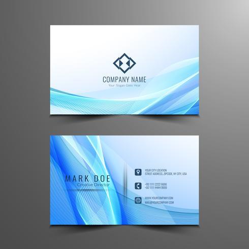 Design de cartão de visita ondulado elegante moderno abstrato