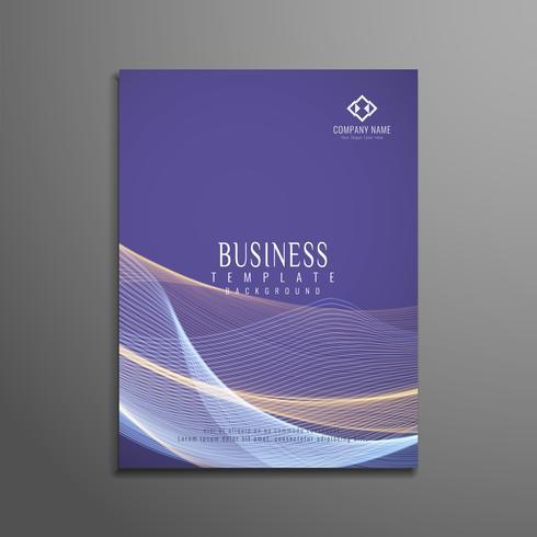 Plantilla de folleto de negocio elegante ondulado abstracto