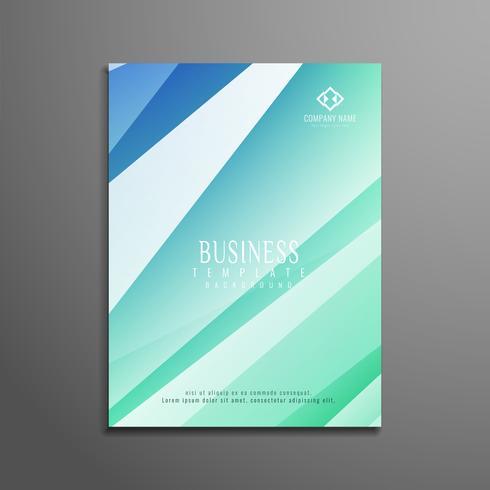 Brochura moderna de negócios abstrato colorido polígono