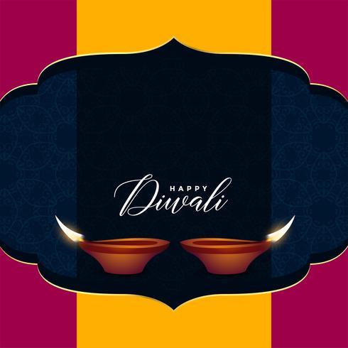 conception de voeux de vente hindu diwali avec espace de texte
