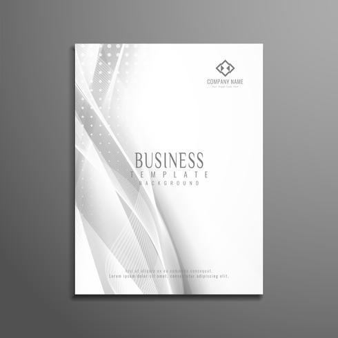 Modelo de folheto de negócios ondulado elegante abstrata