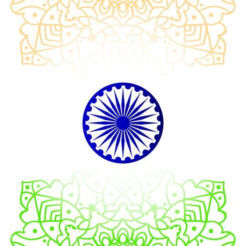 Abstracte Indiase vlag thema ontwerp achtergrond