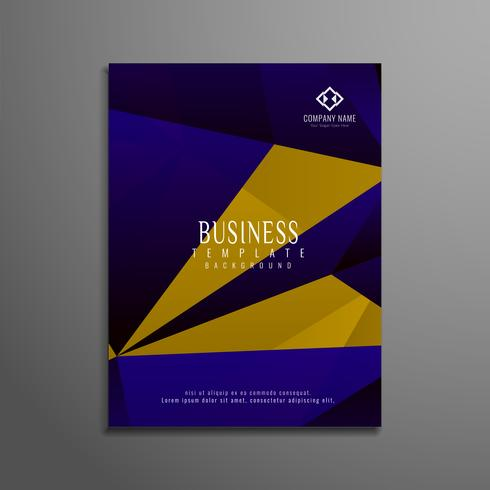 Abstract geometric business brochure template