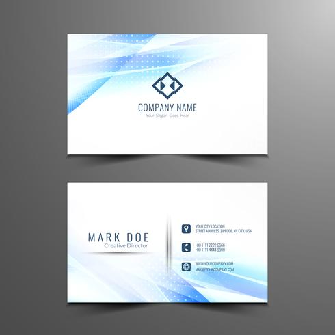 Abstract modern elegant wavy visiting card design