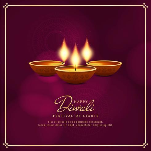 Abstrait religieux joyeux Diwali décoratif