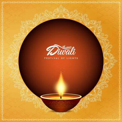 Abstracte religieuze Gelukkige Diwali decoratieve achtergrond
