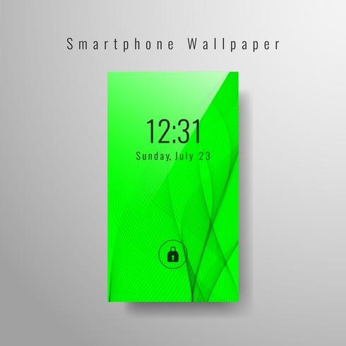 Abstract golvend ontwerp van het smartphonebehang