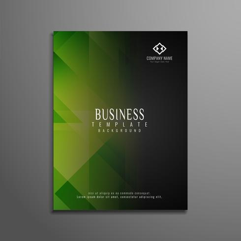 Abstract geometric elegant business flyer template vector