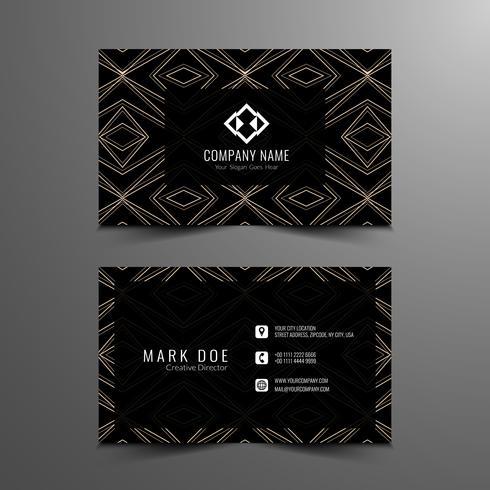 Design de cartão de visita moderna abstrata