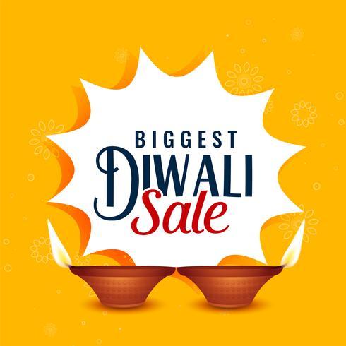 conception de bannière jaune vente joyeux diwali