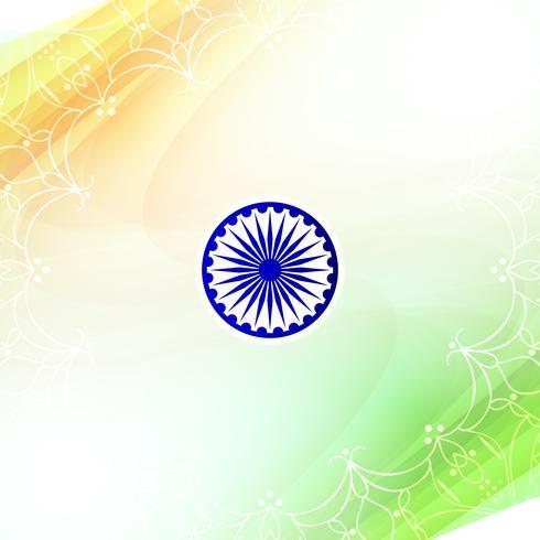 Abstrait drapeau indien ondulé thème design