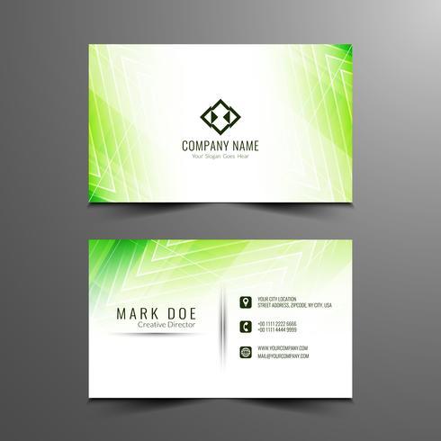 Diseño de tarjeta de visita moderno abstracto