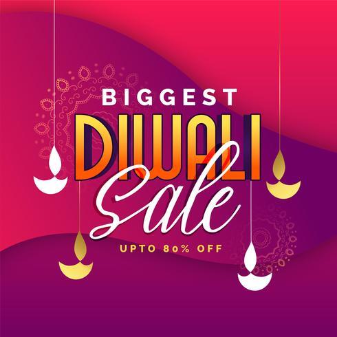 diseño de banner de venta de diwali más grande abstracto