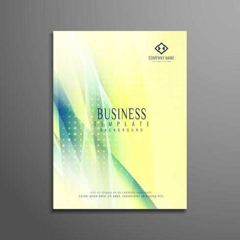 Abstract stylish wavy business brochure template