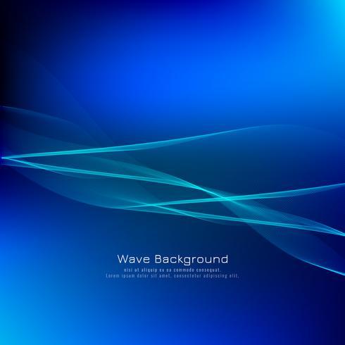 Astratto sfondo blu onda