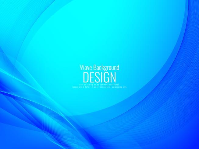 Fondo azul con estilo abstracto de la onda