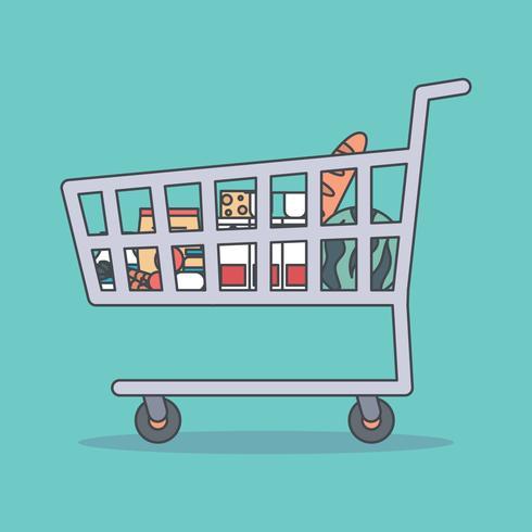 Carrito de compras delineado