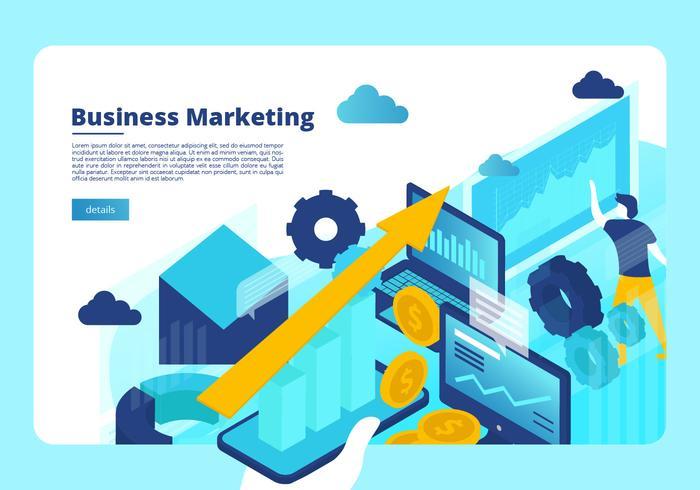 Modello di vettore di Banner di marketing aziendale