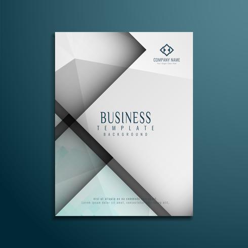 Plantilla de folleto de negocio elegante poligonal abstracto
