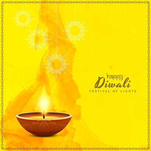 Abstrait joyeux Diwali vecteur