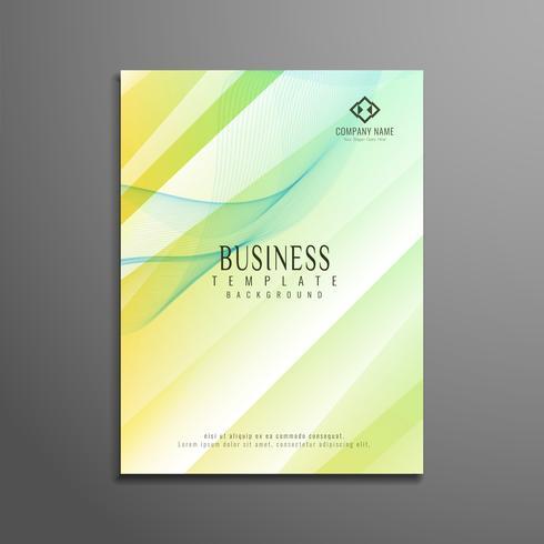 Plantilla de folleto de negocio abstracto colorido polígono
