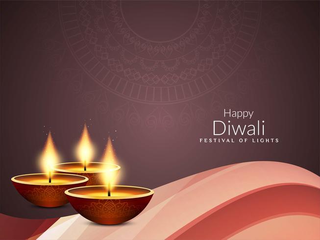 Fondo con estilo abstracto feliz festival de Diwali saludo