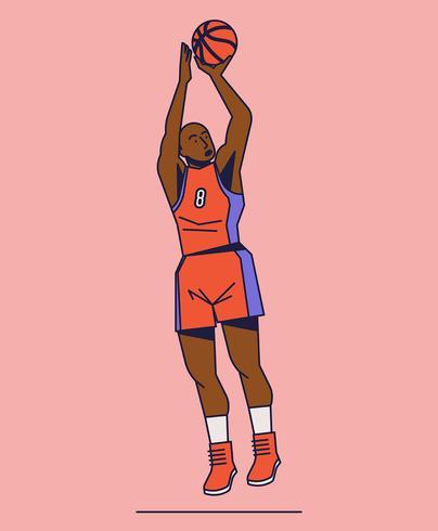 Ilustración de baloncesto