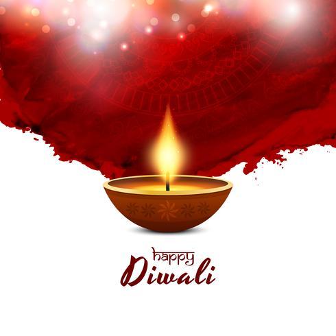 Abstracte gelukkige Diwali rode achtergrond