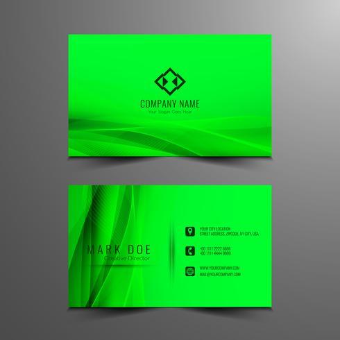 Design de cartão de visita ondulado moderno abstrato