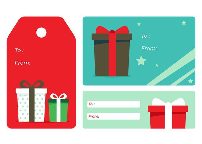 Etiquetas de regalo de vacaciones