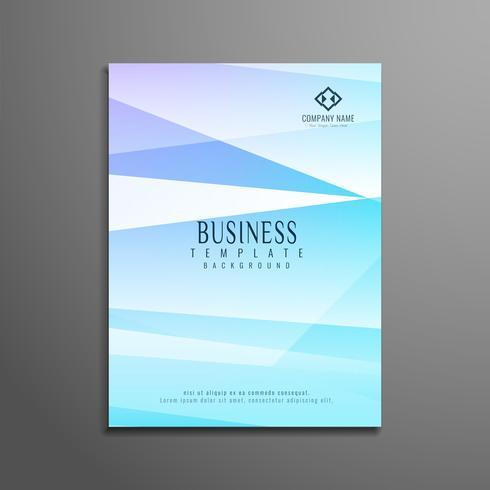 Brochura de negócios elegante abstrato colorido polígono