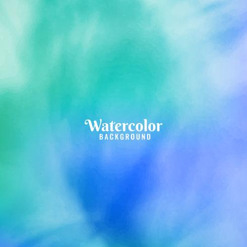 Abstract colorful watercolor background design vector