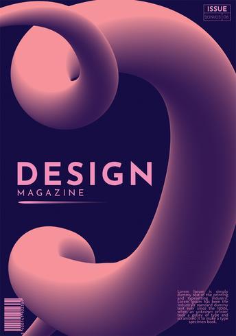 Resumen de portada de revista de diseño vectorial