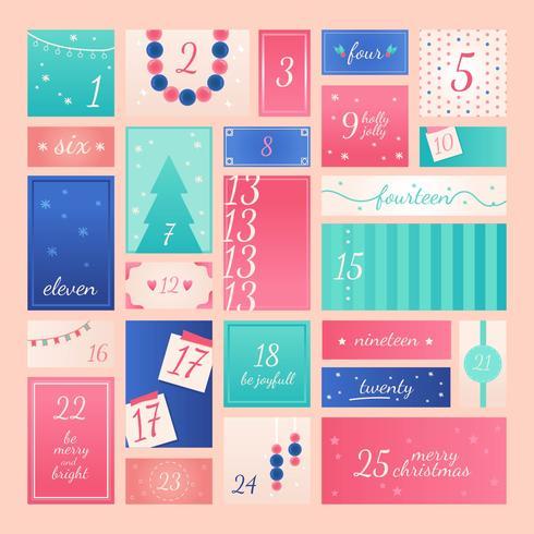Advent Calendar Printable Vector