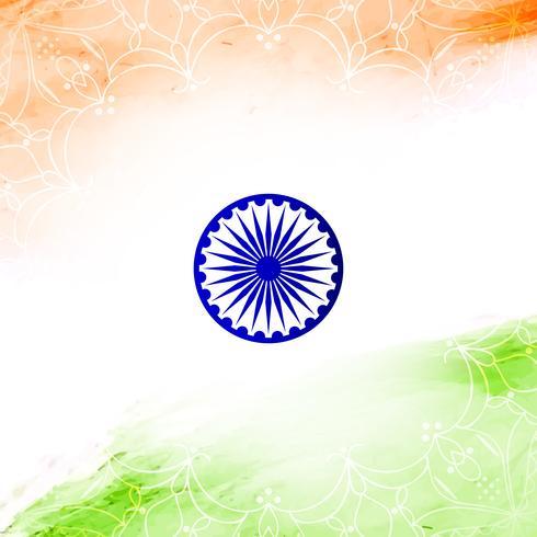 Fondo indio abstracto del diseño de la acuarela del tema de la bandera