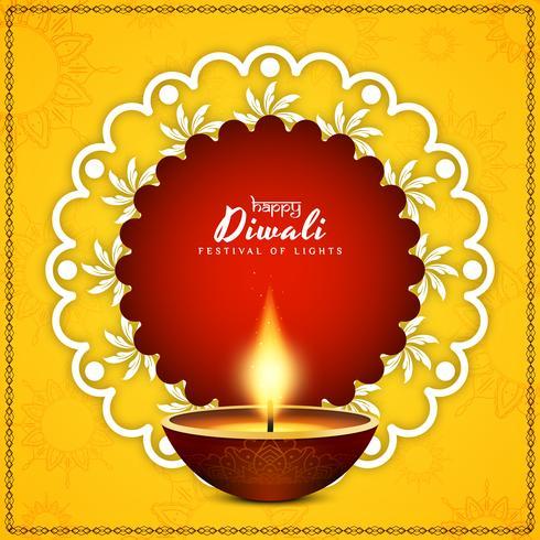 Vector de fondo abstracto feliz Diwali