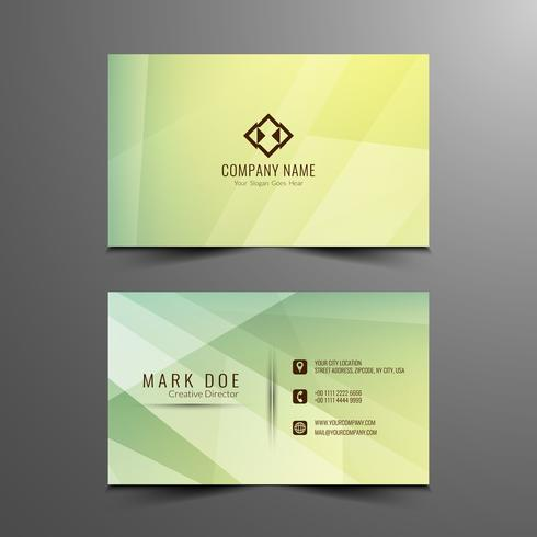 Plantilla de tarjeta de visita geométrica con estilo abstracto