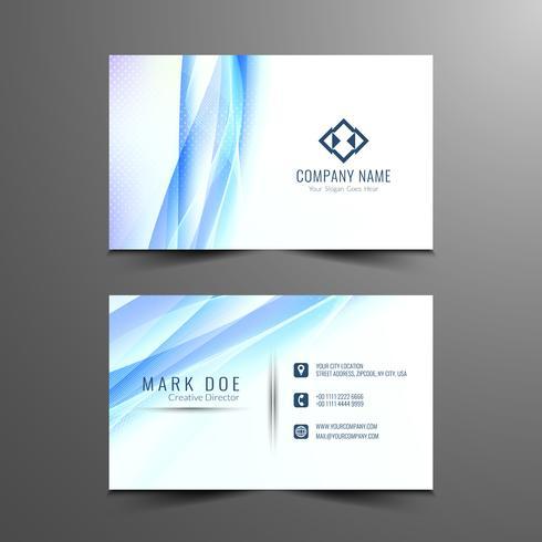Abstract wavy visiting card template