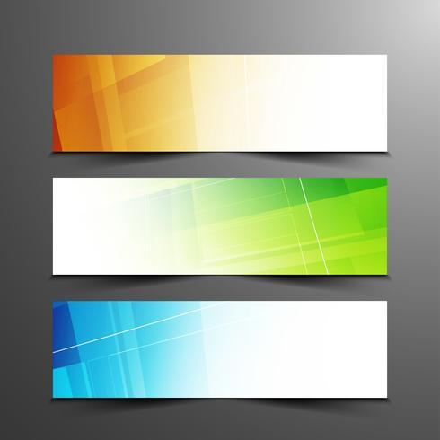 Abstrakt färgstarka bannersats vektor