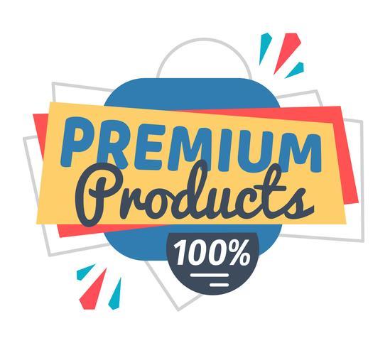 Premiumprodukter vektor