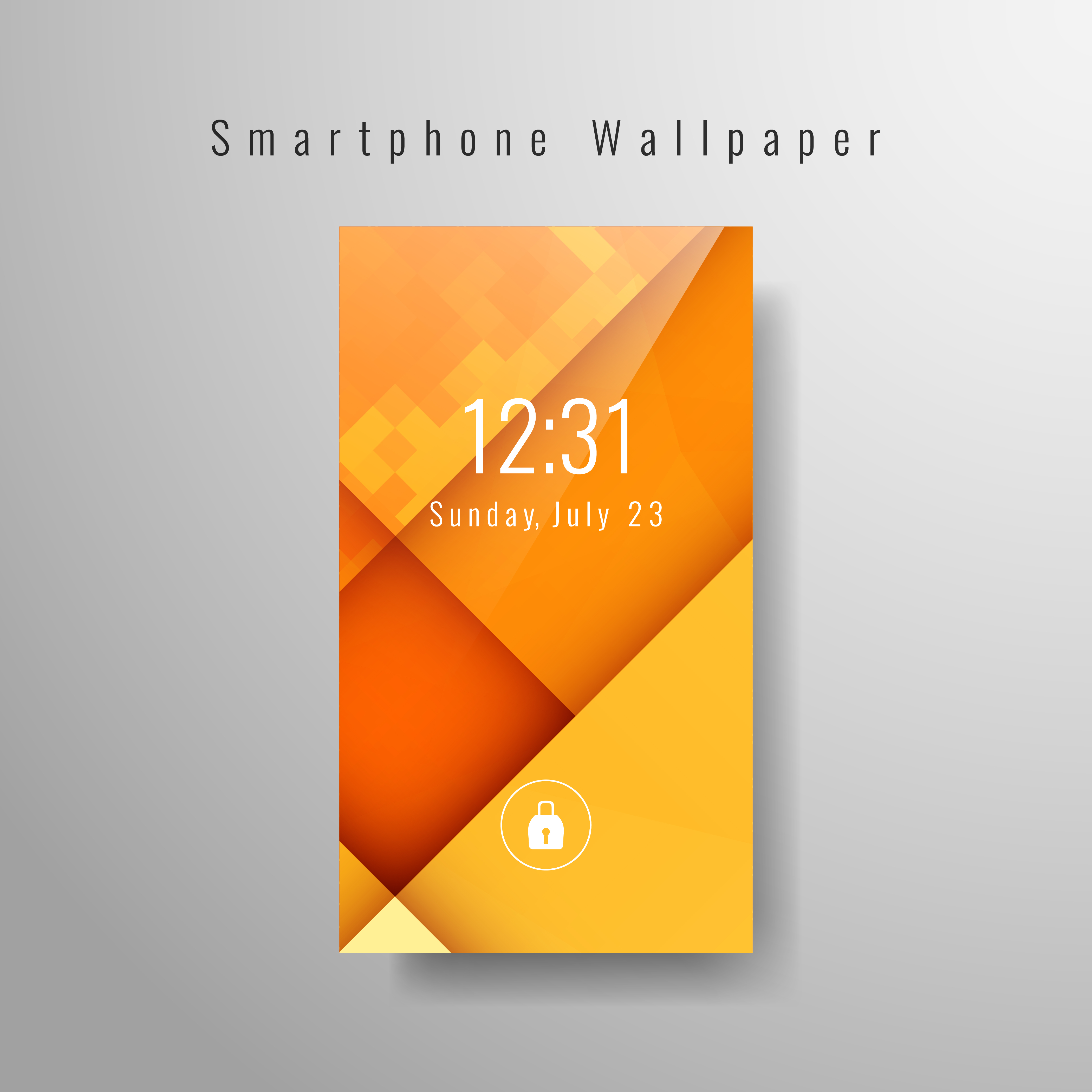 Abstract Stylish Smartphone Wallpaper Template