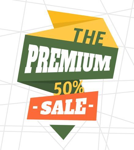 Venda Premium vetor