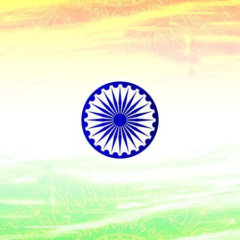 Abstrakter indischer Flaggenthemaaquarell-Designhintergrund