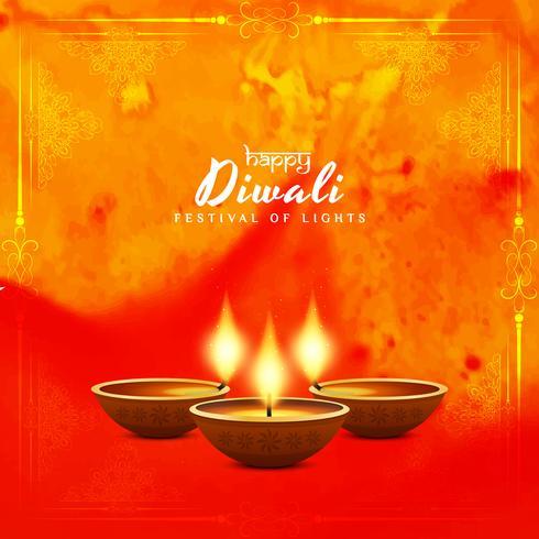 Fondo abstracto elegante feliz vector de Diwali