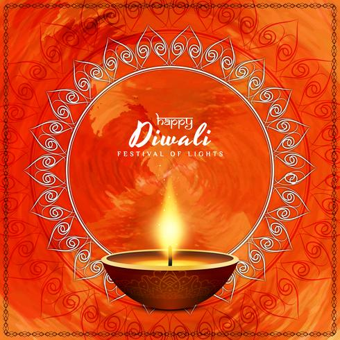 Abstract Happy Diwali background design vector