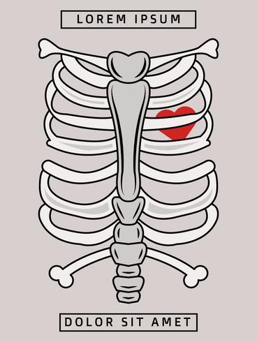 Vecteurs de linogravure squelette exceptionnels vecteur